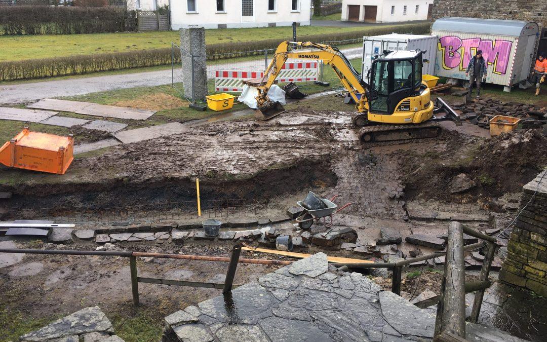 Reparatur der Pochwerk-Fundamente ist abgeschlossen