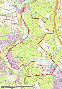 Karte Uraltbergbau am Löhkopf