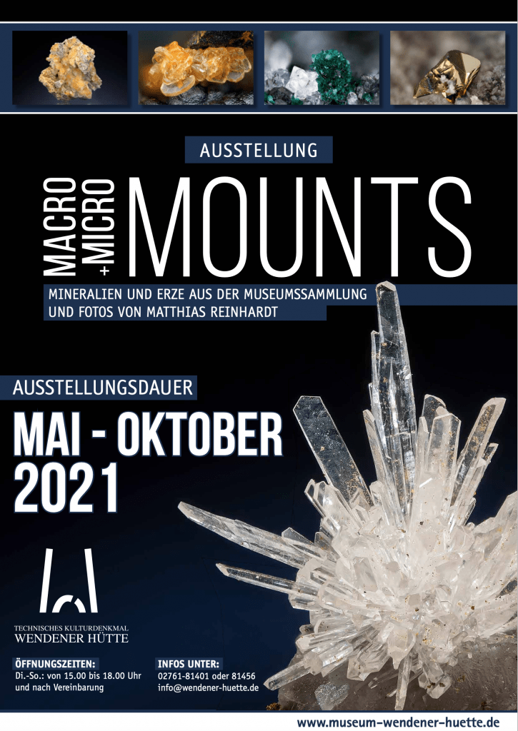 Museum Wendener-Hütte Ausstellung Micro-Macro-Mounts Plakat